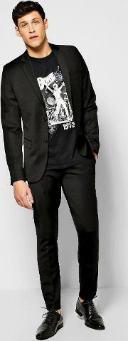 Boohoo , Fit Suit Trousers Black