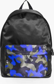 Boohoo , Front Colour Blocked Back Pack - Cobalt