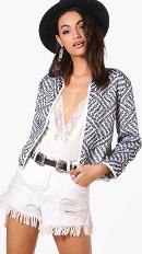 Jacquard Bed Jacket - Multi