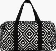 Boohoo , Mono Aztec Oversized Weekend Bag - Black