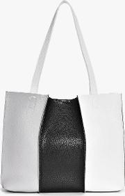 Boohoo , Monochrome Colourblock Shopper Bag - Multi