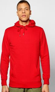 Boohoo , Over The Head Hoodie - Red
