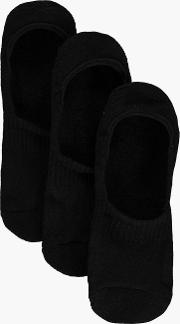 Boohoo , Pack Plain Invisible Socks With Grips - Black