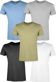 Boohoo , Pack Slim Fit Crew Neck T Shirts - Multi