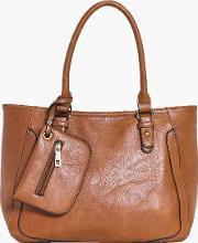 Boohoo , Purse Detail Day Bag - Tan