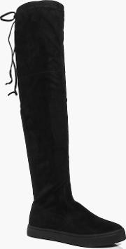 Boohoo , Skater Over The Knee Boot - Black
