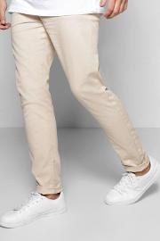 Boohoo , Stretch Chino Trouser - Stone