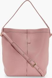 Boohoo , Structured Bucket Bag - Nude