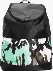 Boohoo , Stud Rucksack Camo Colour Blocked - Black