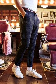 Boohoo , Tailored Stripe Trousers - Navy