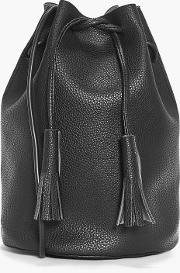 Boohoo , Tall Drawstring Duffle Bag - Black
