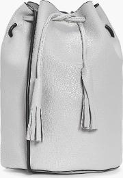 Boohoo , Tall Drawstring Duffle Bag - Grey