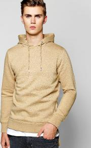 Boohoo , The Head Zip Detail Hoodie - Stone