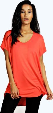 Boohoo , Basic Oversized Tee Poppy