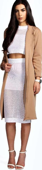 Boohoo , Duster Coat Camel