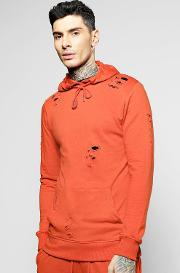 Boohoo , Over The Head Hoodie - Rust