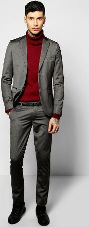 Boohoo , Fit Suit Trousers Charcoal