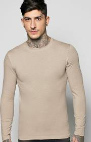 Boohoo , Sleeve Muscle Fit T Shirt - Taupe