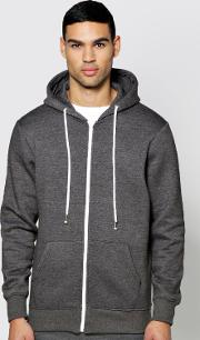 Boohoo , Through Hoodie Charcoal