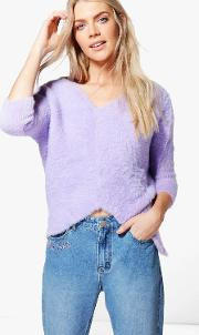 Boohoo , Supersoft Fluffy Jumper - Orchid