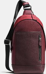 Coach , Manhattan Pack In Pebble Leather
