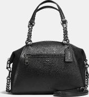 Coach , Chain Prairie Satchel In Mixed Leathers