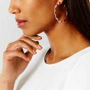 Coast , Leda Hoop Diamante Earrings