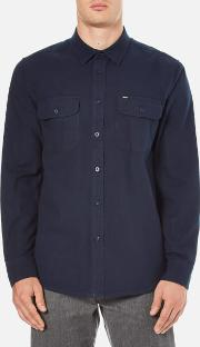 Obey Clothing , Men's Gunner Woven Flannel Shirt Navy
