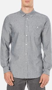 Obey Clothing , Men's Wiseman Herringbone Shirt Navy Multi