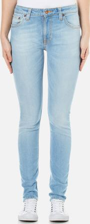 Nudie Jeans , Women's Skinny Lin Jeans Fresh Breeze