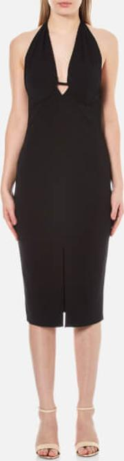 Bec & Bridge , Women's Azura Plunge Dress Black