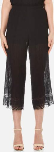 Bec & Bridge , Women's Lattice Shadow Pants Black