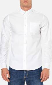 Carhartt , Men's Long Sleeve Oxford Shirt White
