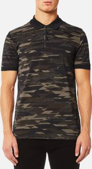 Hugo , Hugo Men's Dacoby Pk Camo Print Polo Shirt Dark Green Xl Green