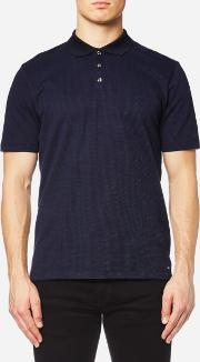 Hugo , Hugo Men's Dateno Textured Polo Shirt Navy Xl Blue