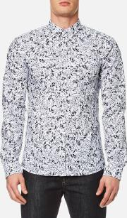 Hugo , Men's Ero3 Patterned Long Sleeve Shirt Pastel Grey