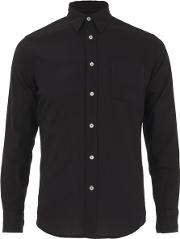 Knutsford X Tripl Stitched , Men's Long Sleeve Woven Pique Shirt Black
