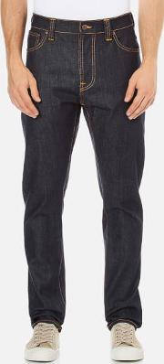 Nudie Jeans , Men's Brute Knut Regulartapered Fit Jeans Dry Navy Comfort