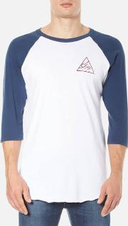 Obey Clothing , Men's Next Round 2 Raglan T Shirt Whitenavy