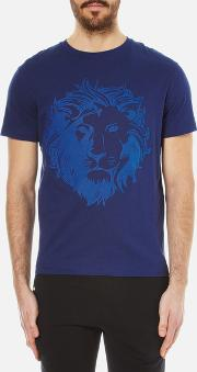 Versus Versace , Men's Embossed Lion T Shirt Blue