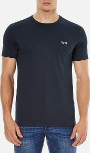 Boss Green , Men's Chest Logo Basic T Shirt Navy