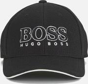 Boss Green , Men's Large Logo Cap Black