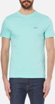 Boss Green , Men's Tee Basic T Shirt Open Blue