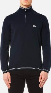 Boss Green , Men's Zime Quarter Neck Jumper Blue