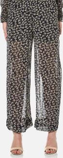 Women's Newman Georgette Trousers Total Eclipse