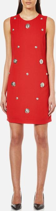 Versus Versace , Women's Studded Shift Dress Fire