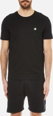 Versus Versace , Men's Lion Pocket T Shirt Black
