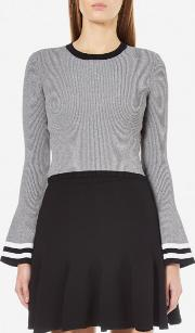 Cmeo Collective , Cmeo Collective Women's There Is A Way Long Sleeve Stripe Jumper Grey Marle