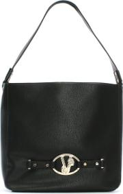 Versace Jeans , Black Lion Head Hobo Bag