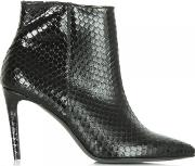 Kennel & Schmenger , Montpelier Black Leather Reptile Ankle Boot